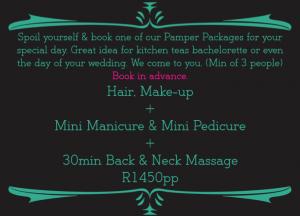 Massage Pamper Package